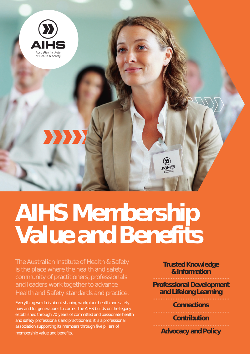 Screenshot of Pdf: AIHS Membership Value and Benefits